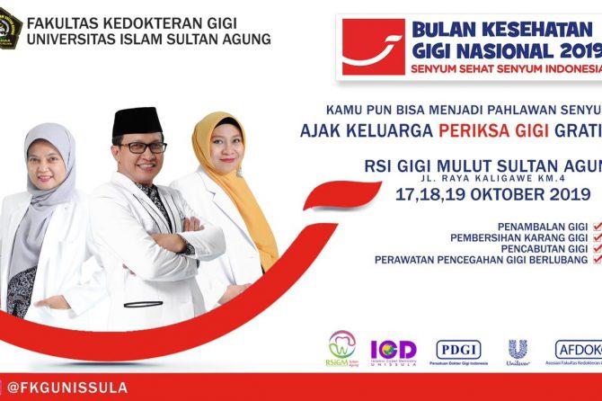 Bulan Kesehatan Gigi Nasional (BKGN) 2019
