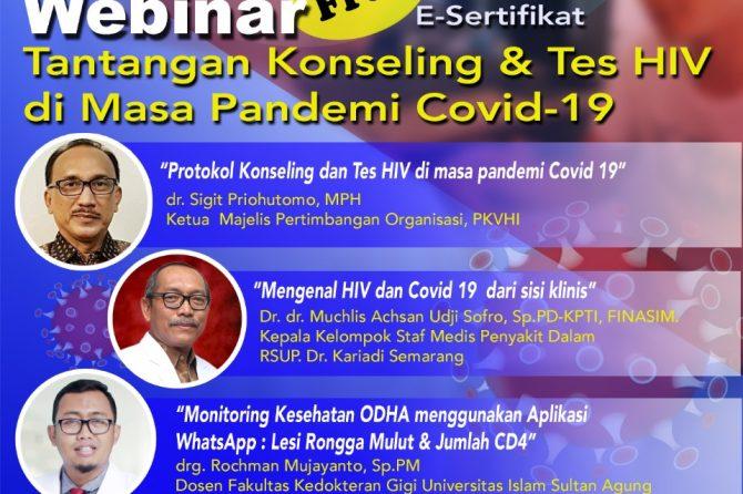 Webinar Tantangan Konseling & Tes HIV di Masa Pandemi Covid-19